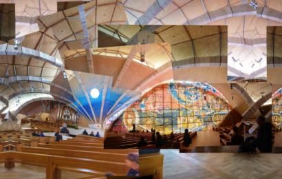 Pilger am Gargano - Collage Wallfahrtskirche