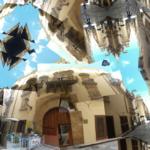 enge Gassen in Trapani -Collage